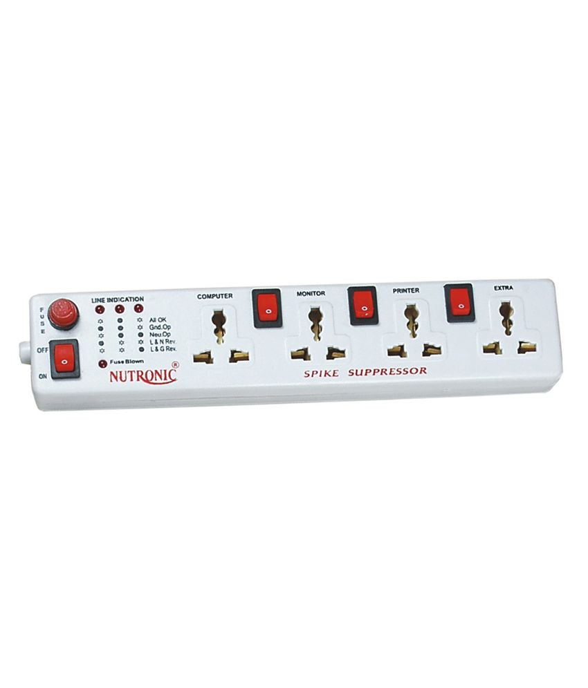 Nutronic Spike Gaurd SS-404 4 Strip Surge Protector (1.5 Mtr)