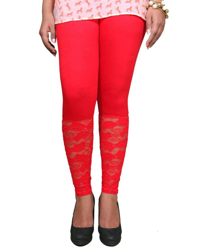 479fcb2d8f9d5b Ansh Red Viscose Leggings Price in India - Buy Ansh Red Viscose Leggings  Online at Snapdeal
