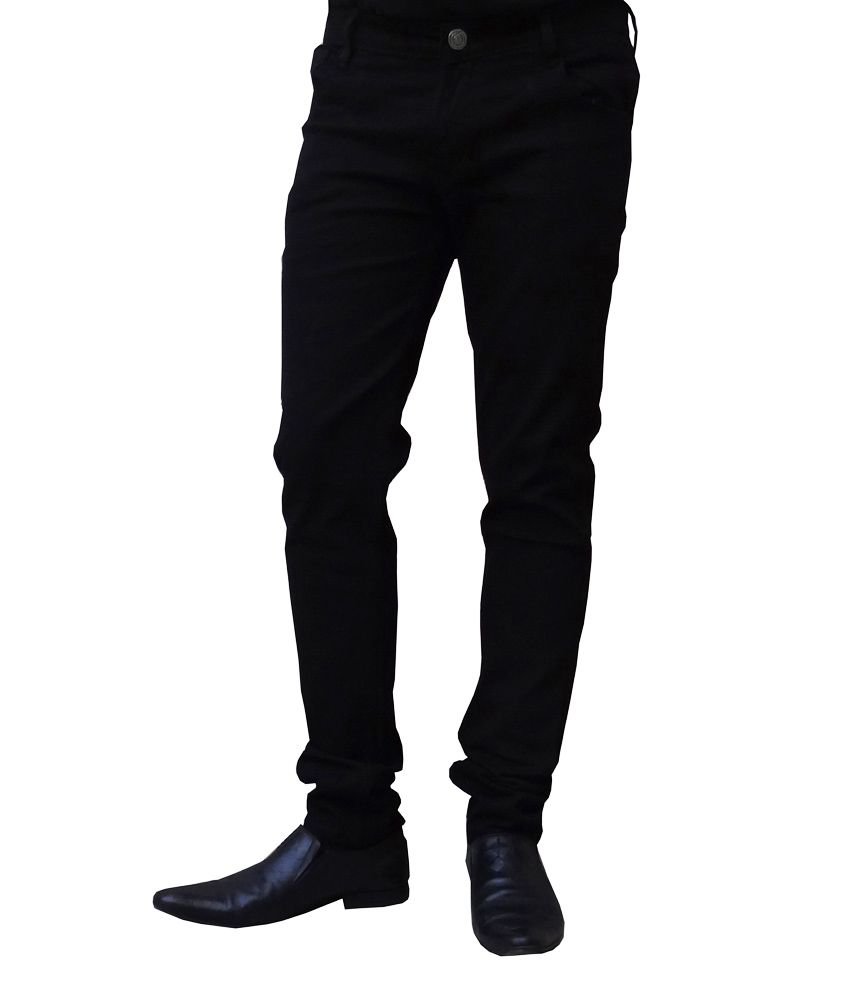 Club Vintage Black Cotton Slim Fit Jeans low price