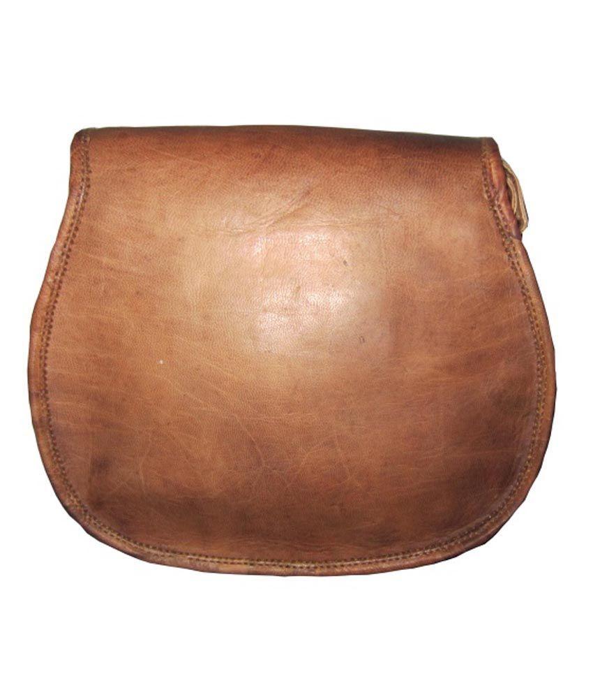Reyu Vintage Leather Brown Sling Bag For Women - Buy Reyu Vintage ...