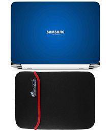 Anwesha's Reversible Laptop Sleeve with Laptop Skin - 15.6 inch Samsung Turn on Tomorrow