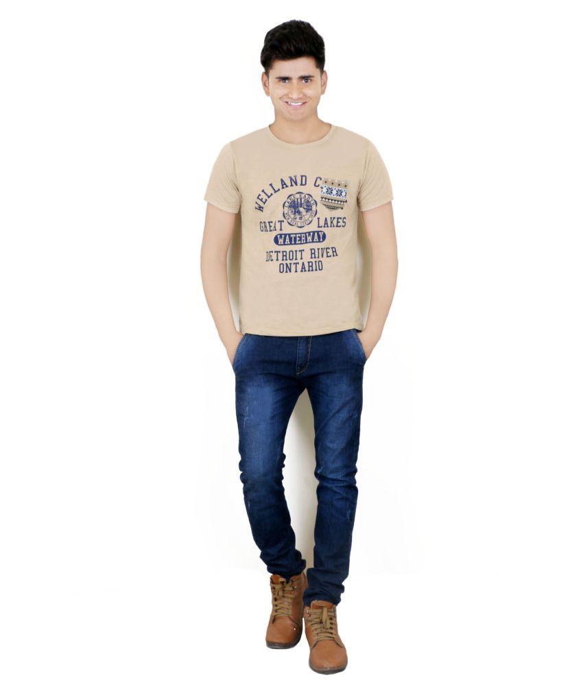 BUFF Cotton Gold Half T Shirt