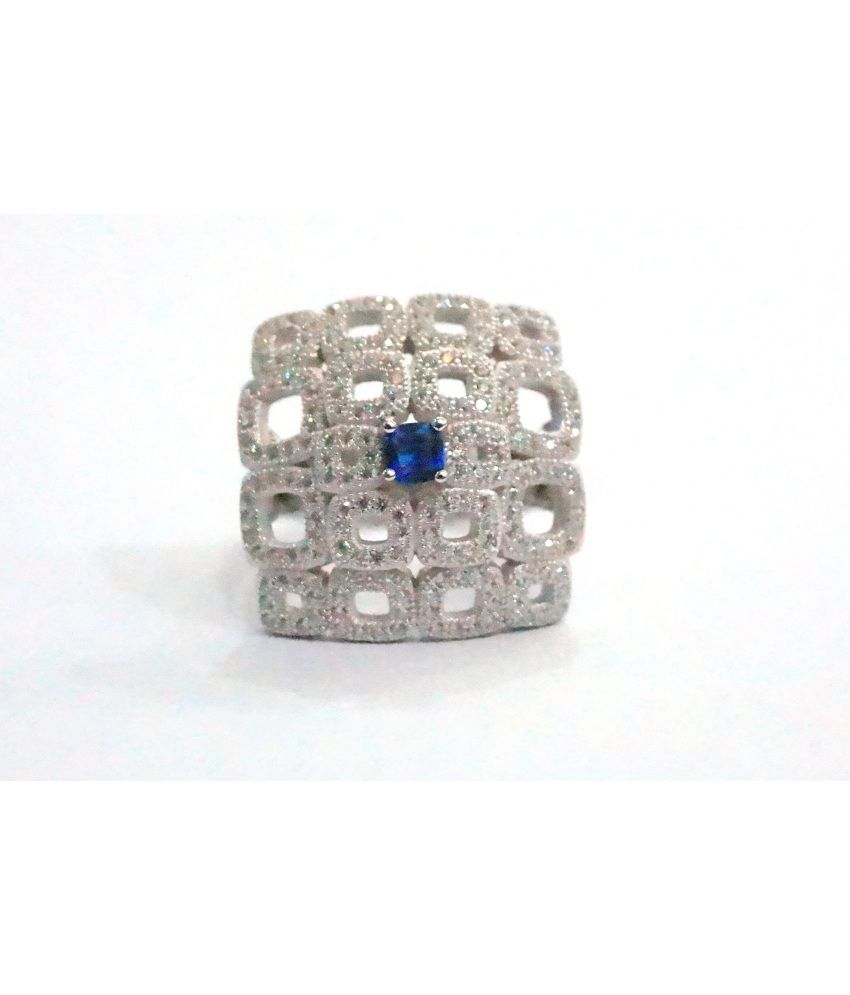 Kkjewellers Silver 92.5 Cocktail Ring