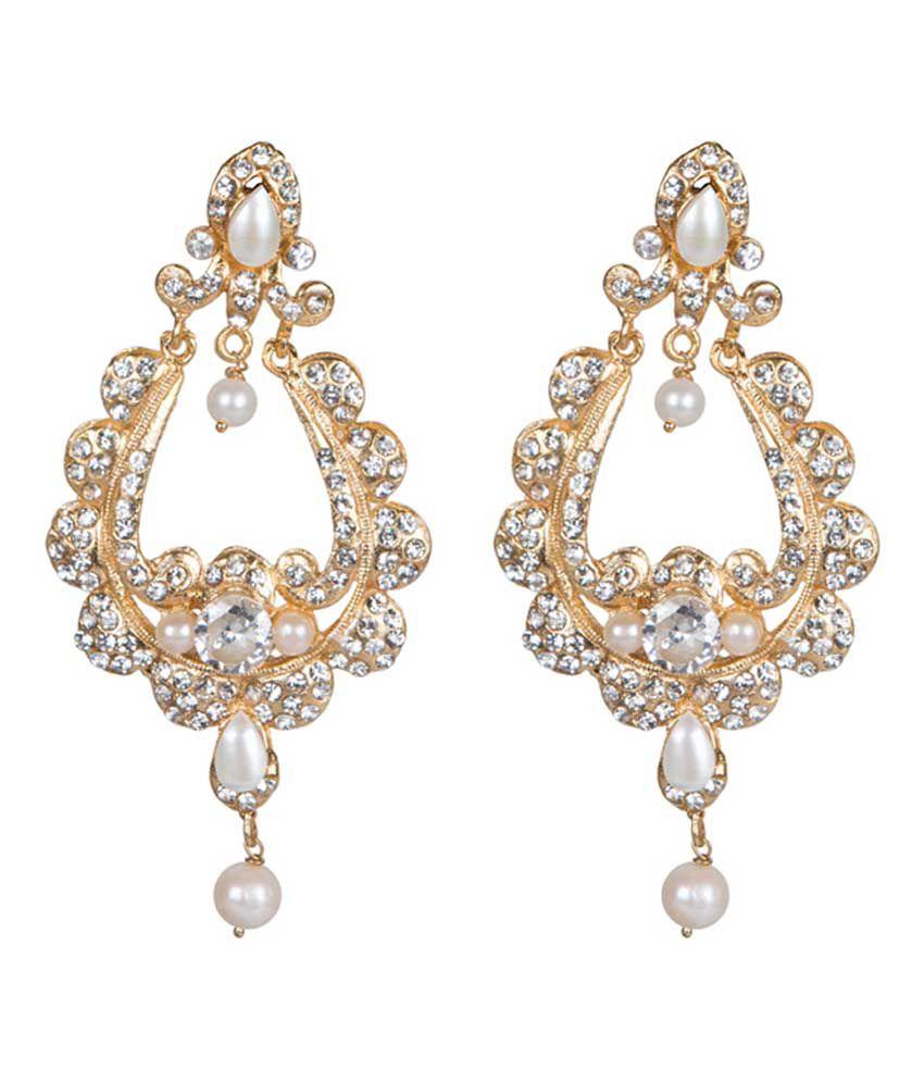 Taj Pearl Beautiful Gold Plated Pearl Earrings