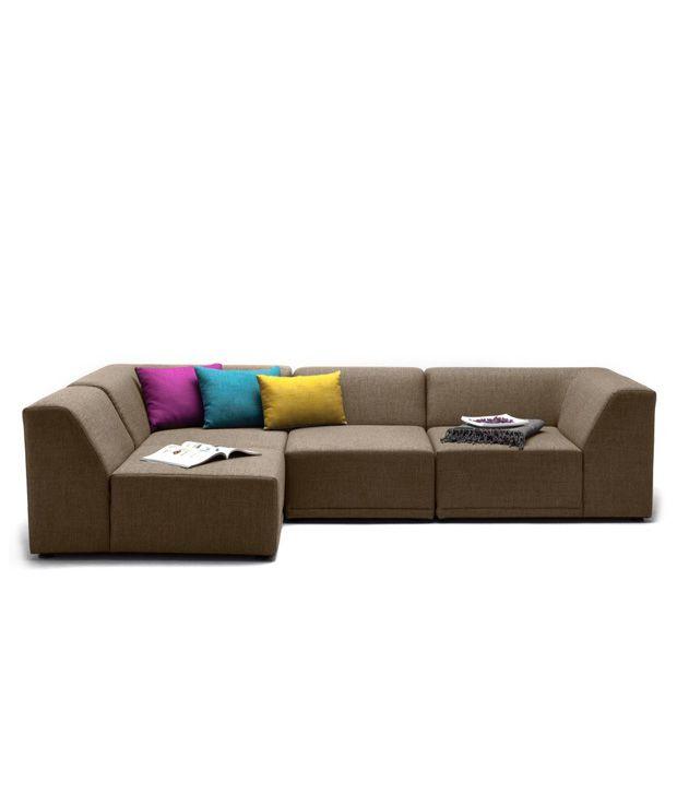 alia 4 seater l shaped sofa 2 corner 1 1 rh snapdeal com