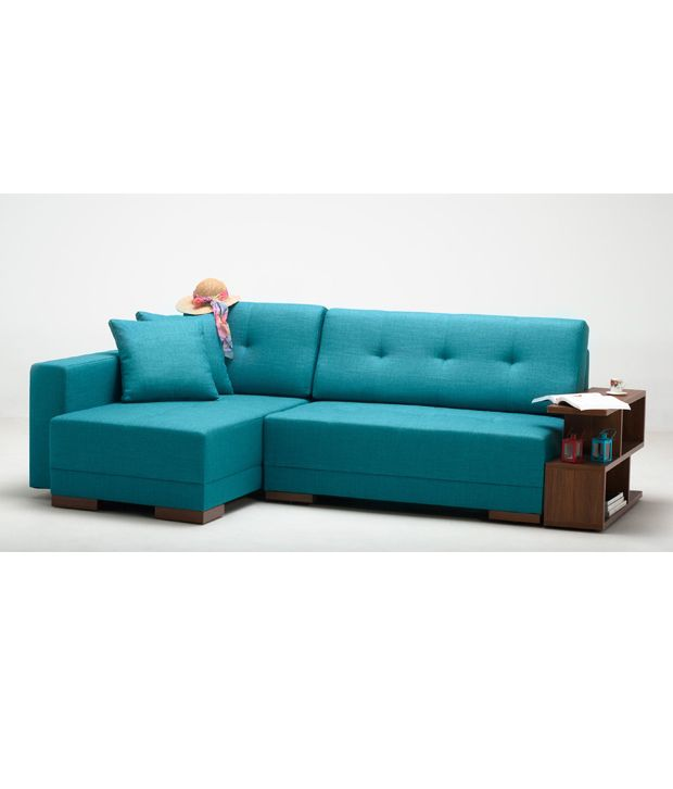 2 seater sofa with left chaise lounge in blue buy 2 for Blue chaise lounge