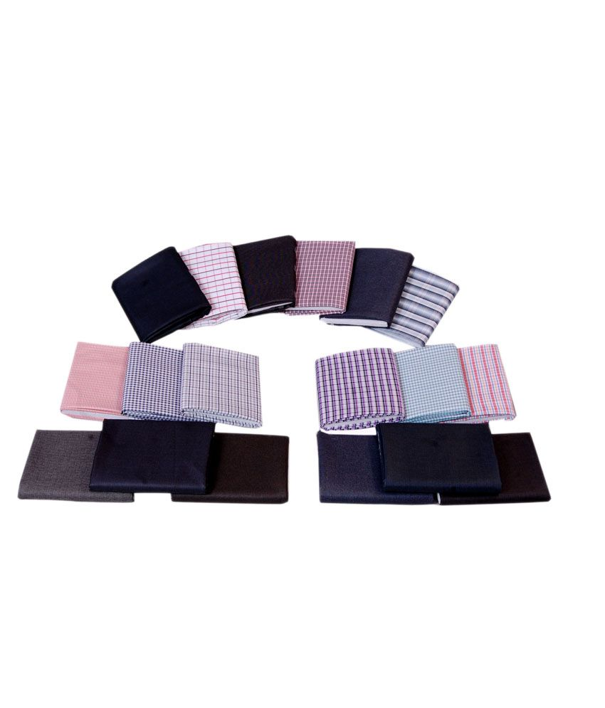 Gwalior Fine Quality Fabric With Perfect Matching Of Suiting and Shirting - Set Of 24 (12 Shirt and 12 Trouser)