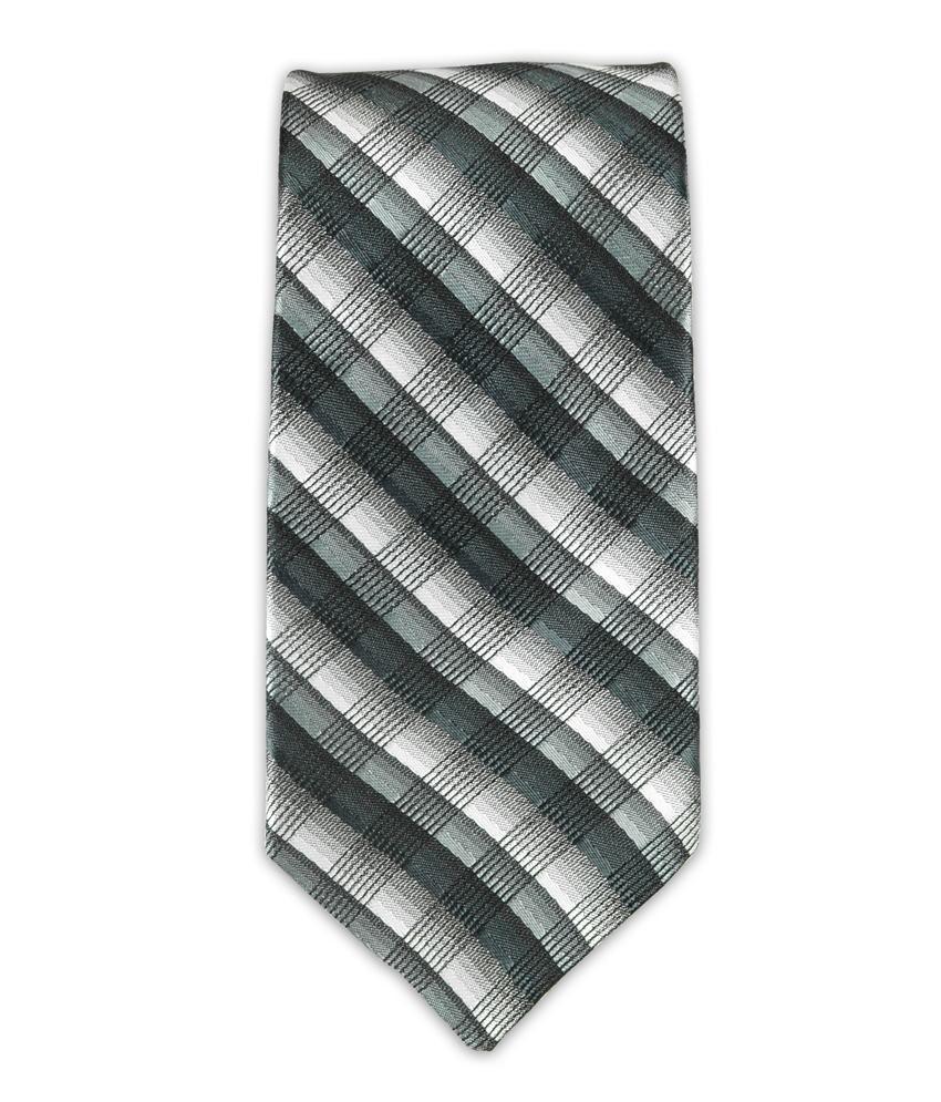 The Tie Hub Black Micro Fiber Casual Narrow Tie