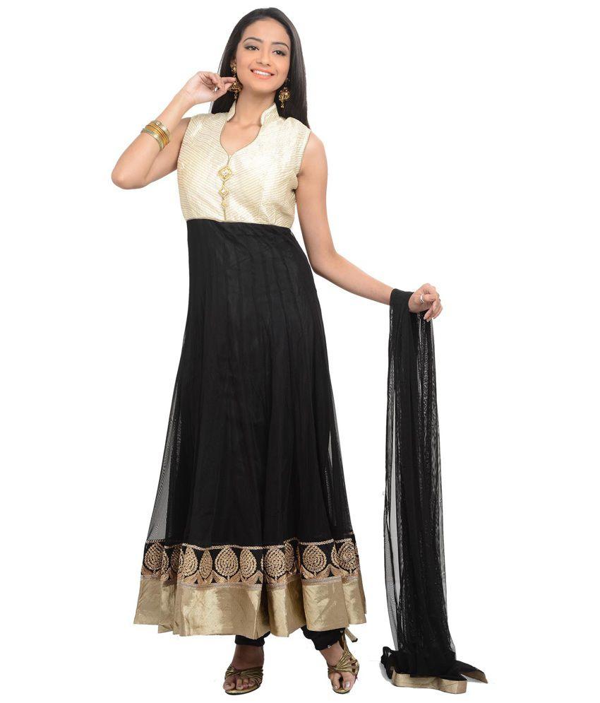SareesHut Attractive Black Anarkali Suit
