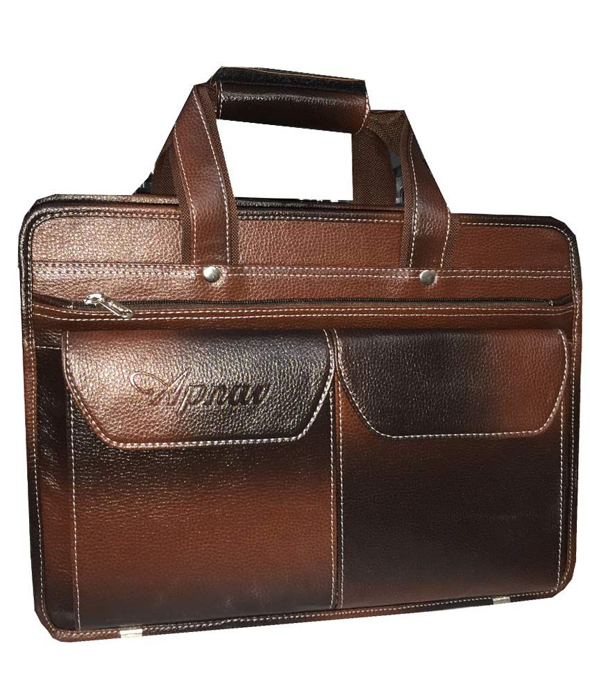 Apnav Brown Laptop Bag