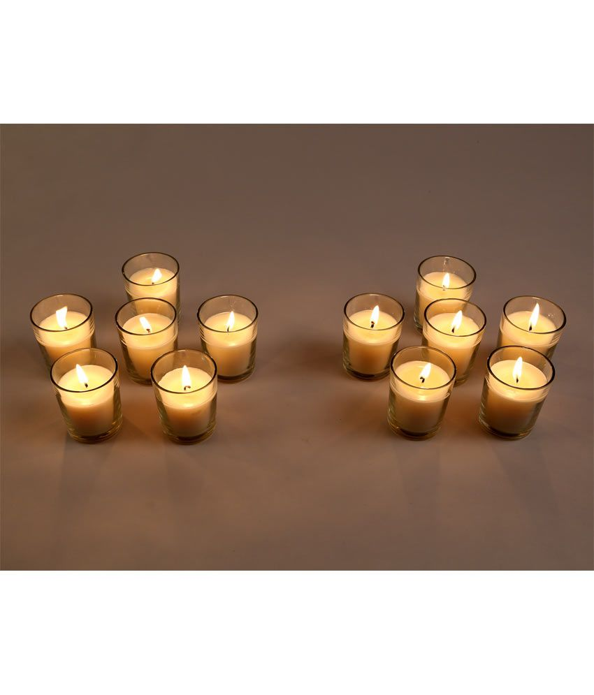hosley white set of 12 unscented glass candles buy hosley white set of 12 unscented glass. Black Bedroom Furniture Sets. Home Design Ideas