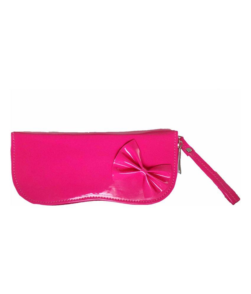 Modish Look Trendy Pink Clutch