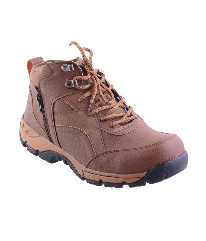 Twyst Brown Synthetic Leather Men Boots