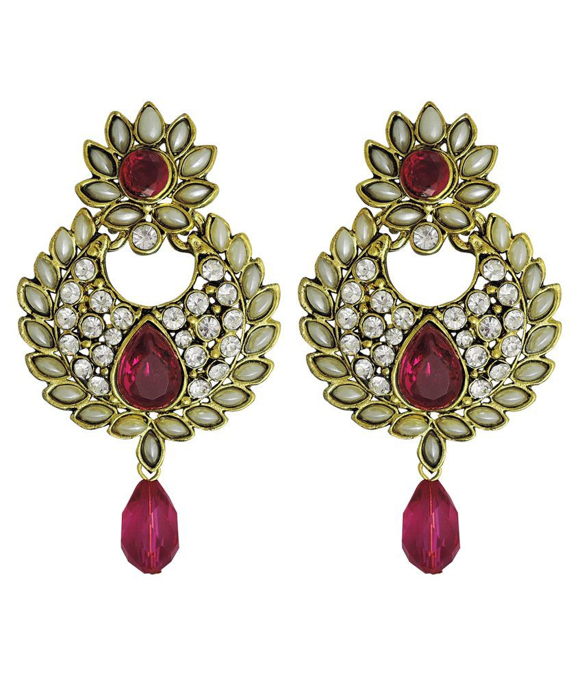 Yogada Style Diva Pink Hanging Earrings