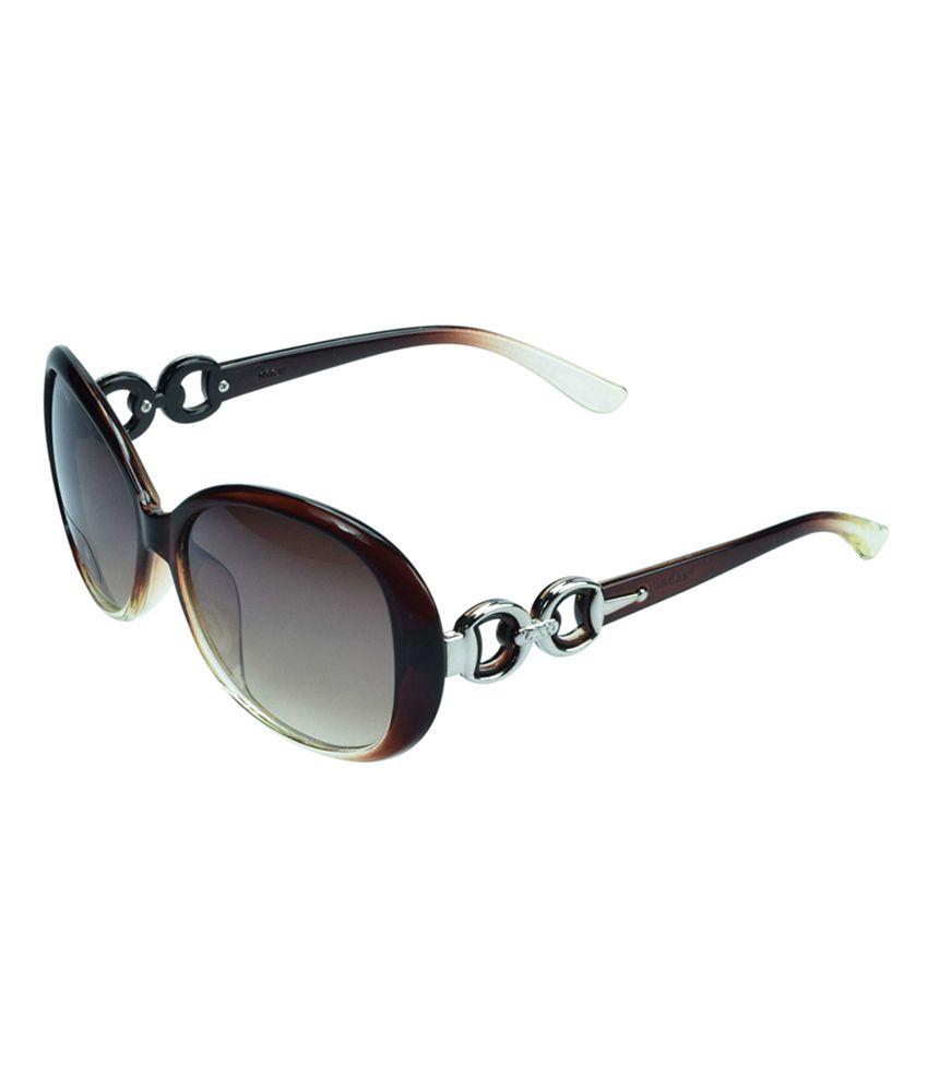 Del Impex Brown Frame Oval Shape Women Sunglasses HL529BR