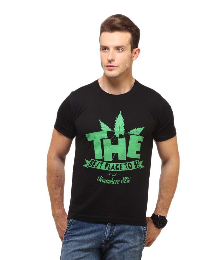 Hot Chillys Black Cotton Round Neck T Shirt