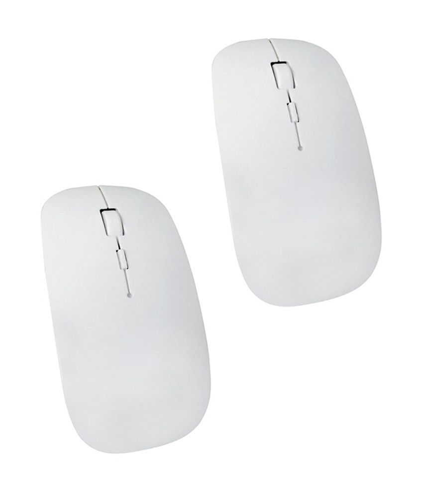 Selfieseven Combo of 2 White Wireless Mouse