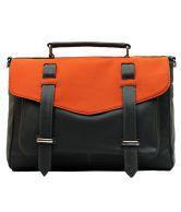 La Volsa LVST01GY Black Satchel Bags
