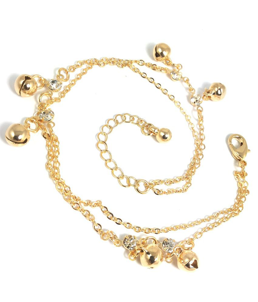Ammvi Creations Golden Anklet