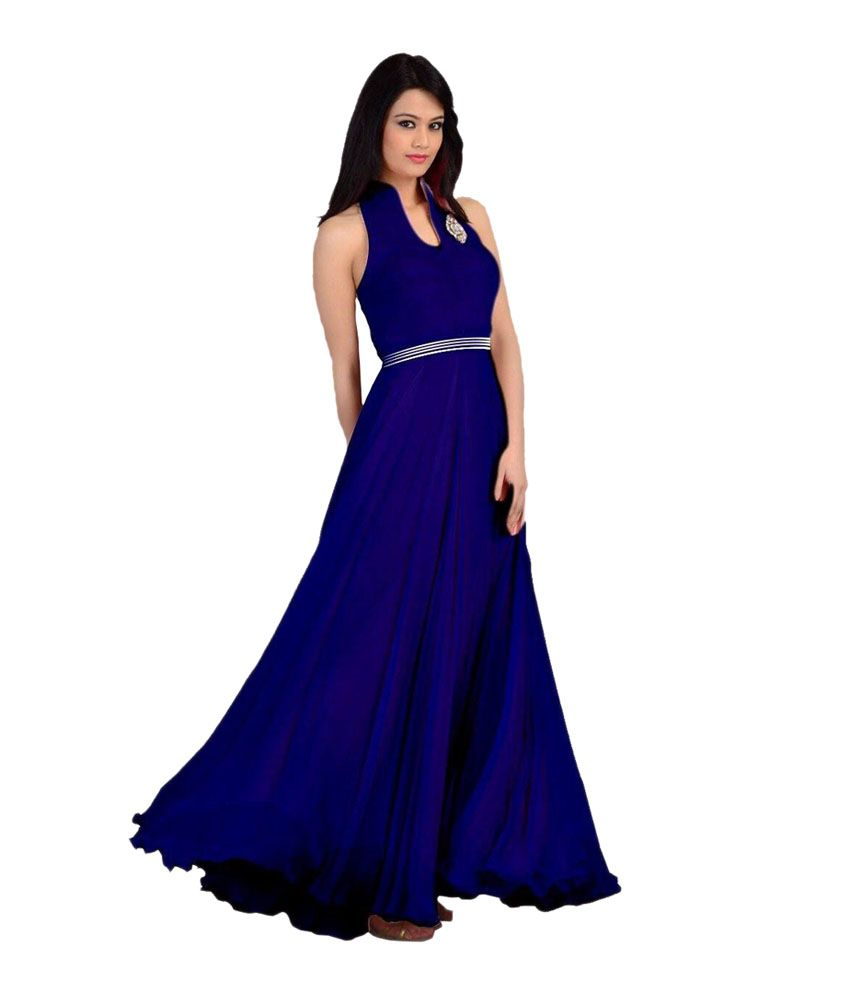 77e6d9e0507 Astha Fashion Blue Long Partywear Casual Anarkali Gown - Buy Astha Fashion  Blue Long Partywear Casual Anarkali Gown Online at Best Prices in India on  ...