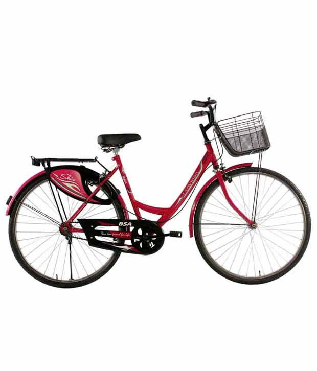 33373ca409a Bsa Ladybird Shine Cycle 26t Pink Adult Bicycles/Women Bicycle: Buy Online  at Best Price on Snapdeal