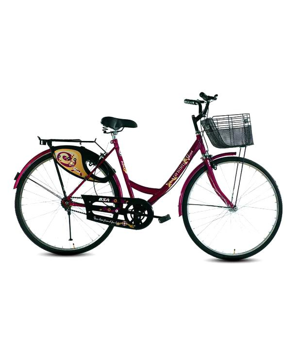 8255fda8419 Bsa Ladybird Shine Cycle 26t Purple Adult Bicycle/Man/Men/Women: Buy Online  at Best Price on Snapdeal