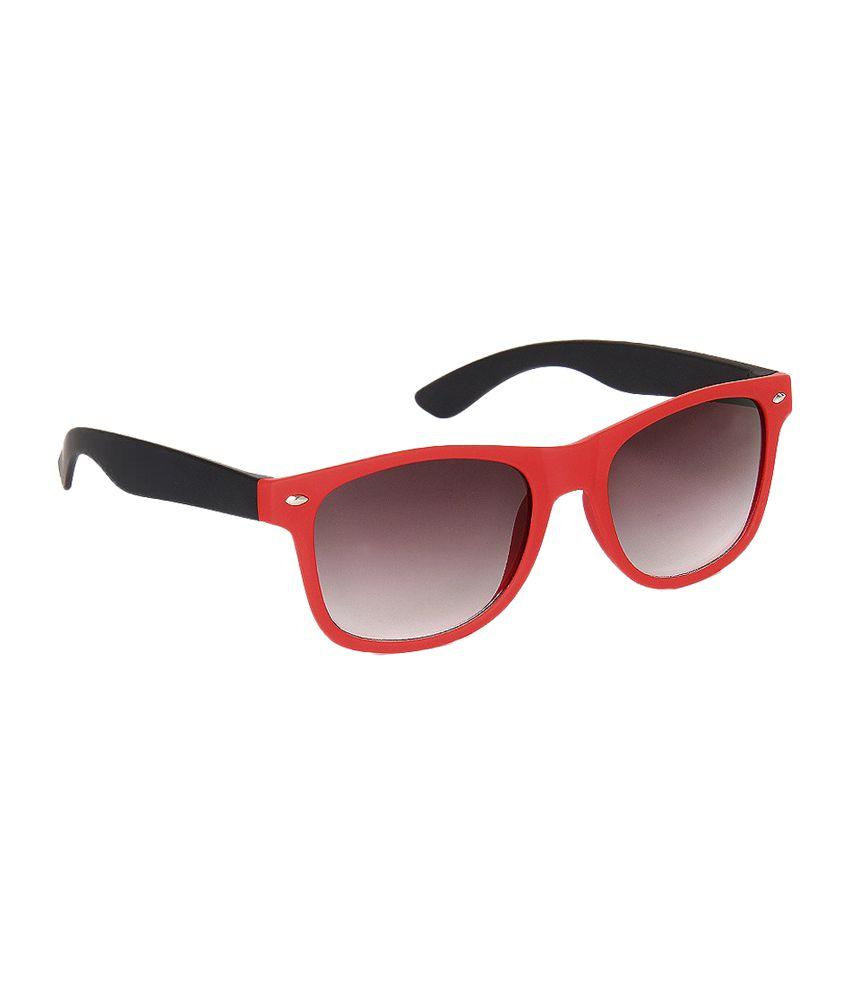 Olvin Gray & Red Wayfarer Sunglass (OL267-02)