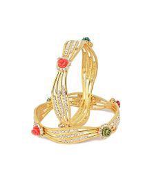 Vk Jewels Regal Rose Gold Plated Bangles