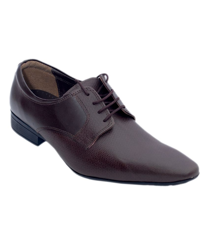 Aura Brown Leather Office Wear Formal Shoes