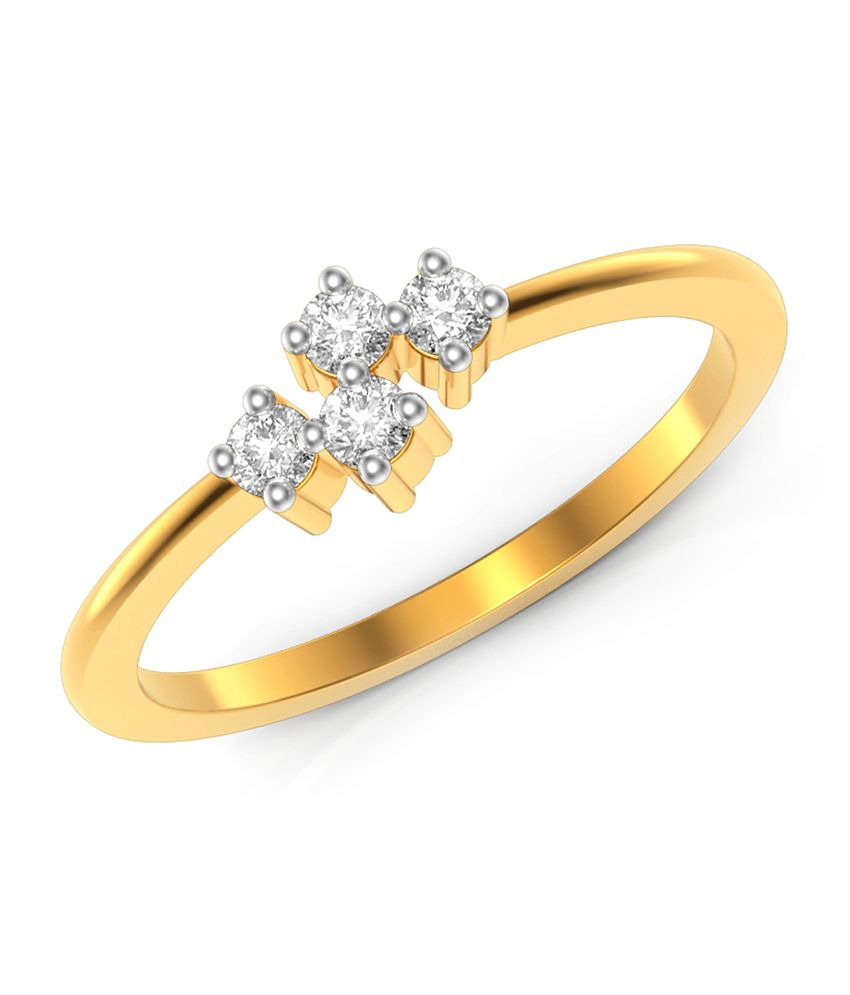 Charu Jewels Simple Forth Gold Ring