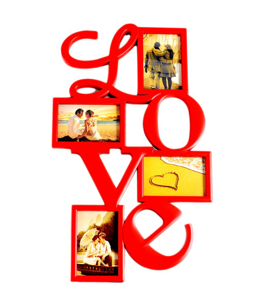 deep love collage frame with 4 photos buy deep love collage frame with 4 photos at best price. Black Bedroom Furniture Sets. Home Design Ideas