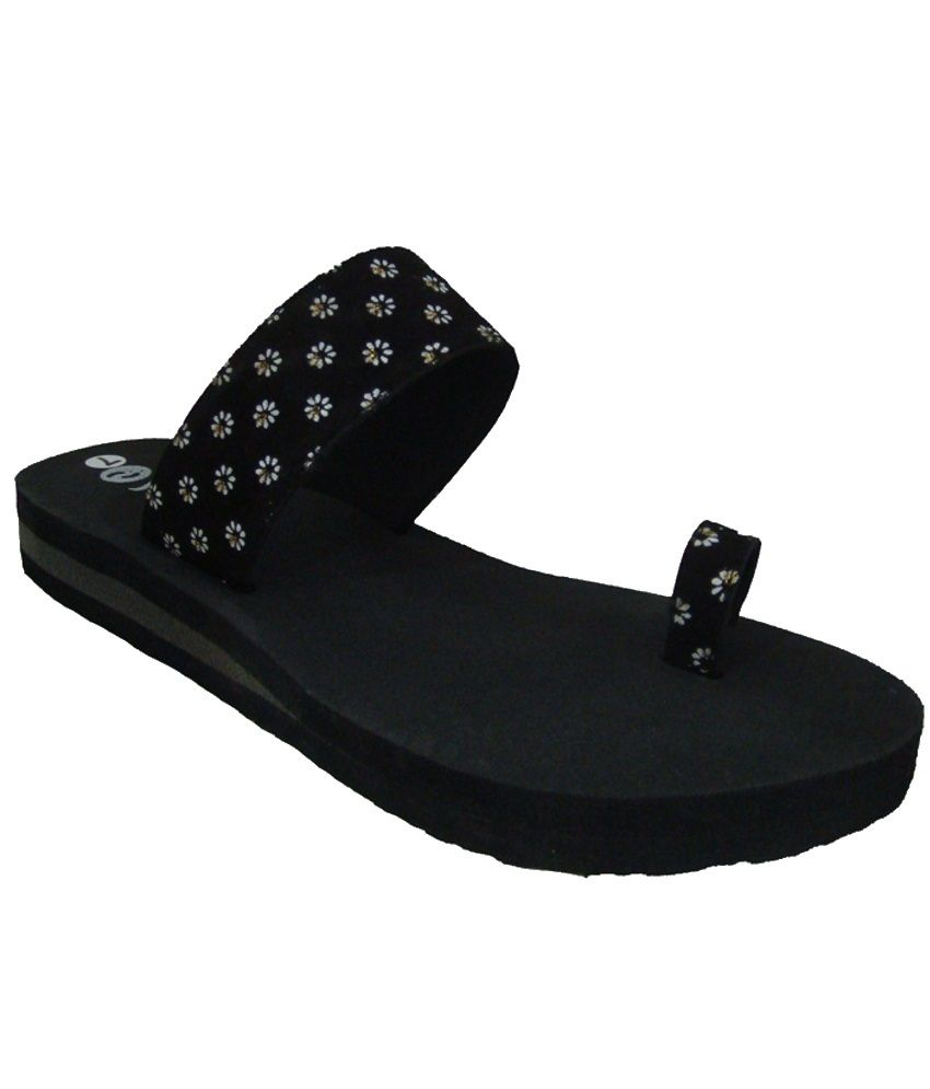 Senso Vegetarian Shoes Chic Black Slippers
