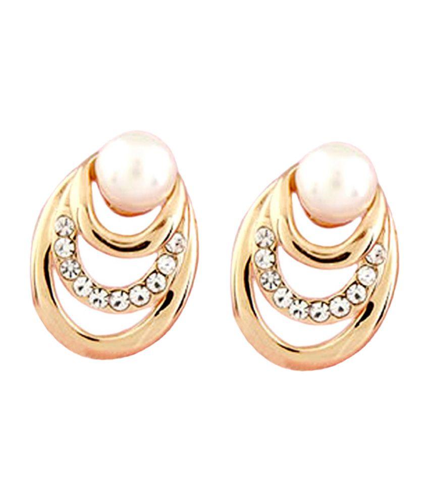 Young & Forever Elegant Pearl Earrings for Women
