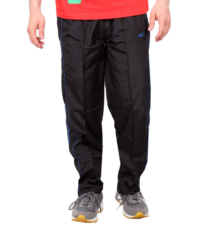Fitz Black Polyester Trackpant