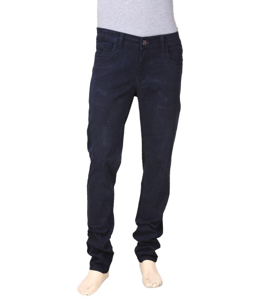 First Soul Blue Cotton Blend Jeans