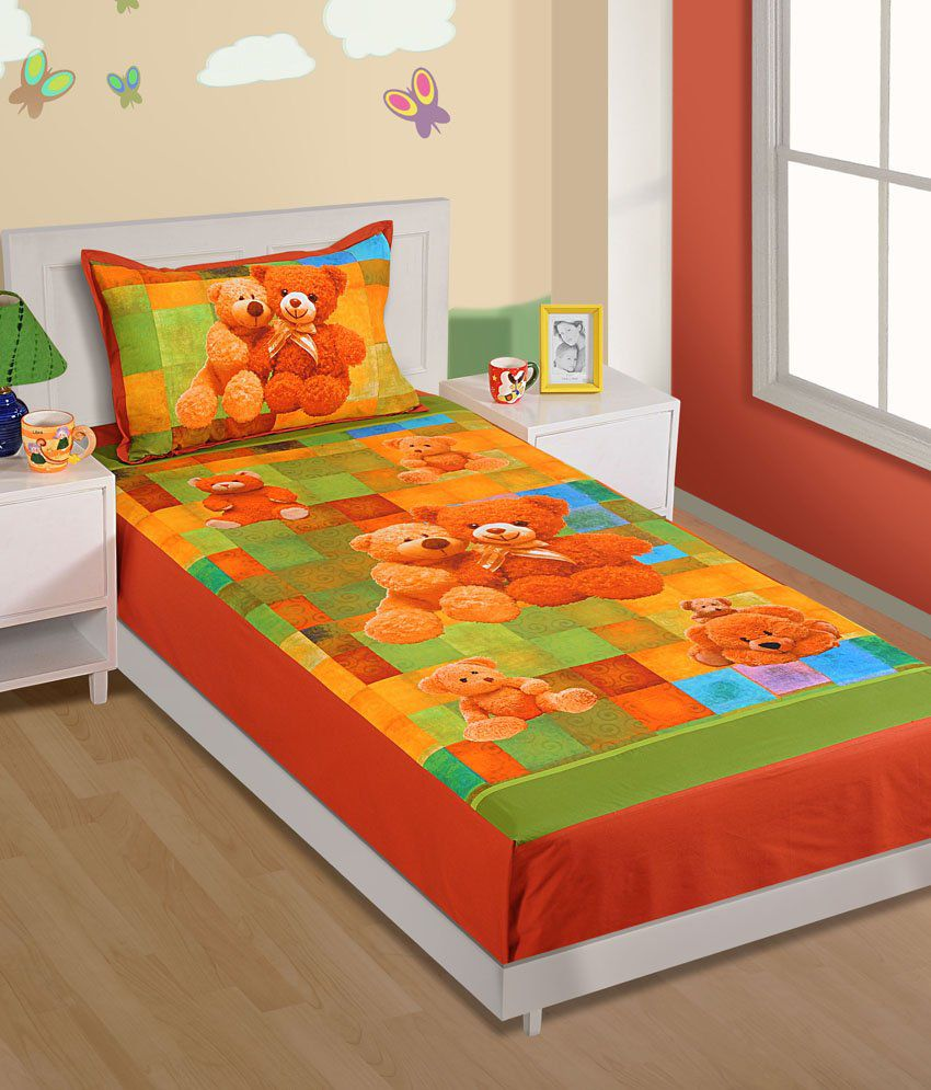 Swayam Orange And Green Baby Themes Bedding Set Kids