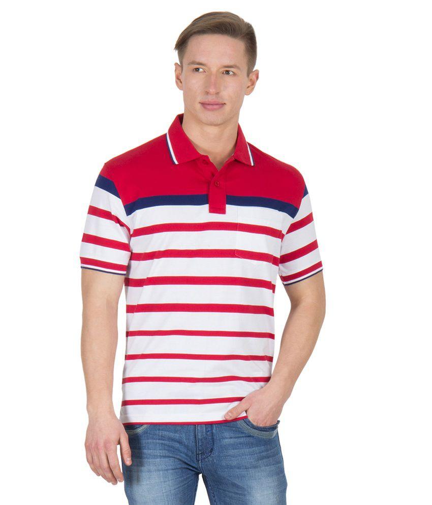 Wilkins & Tuscany 11601 Stylish Mid Blue B Red T-shirt
