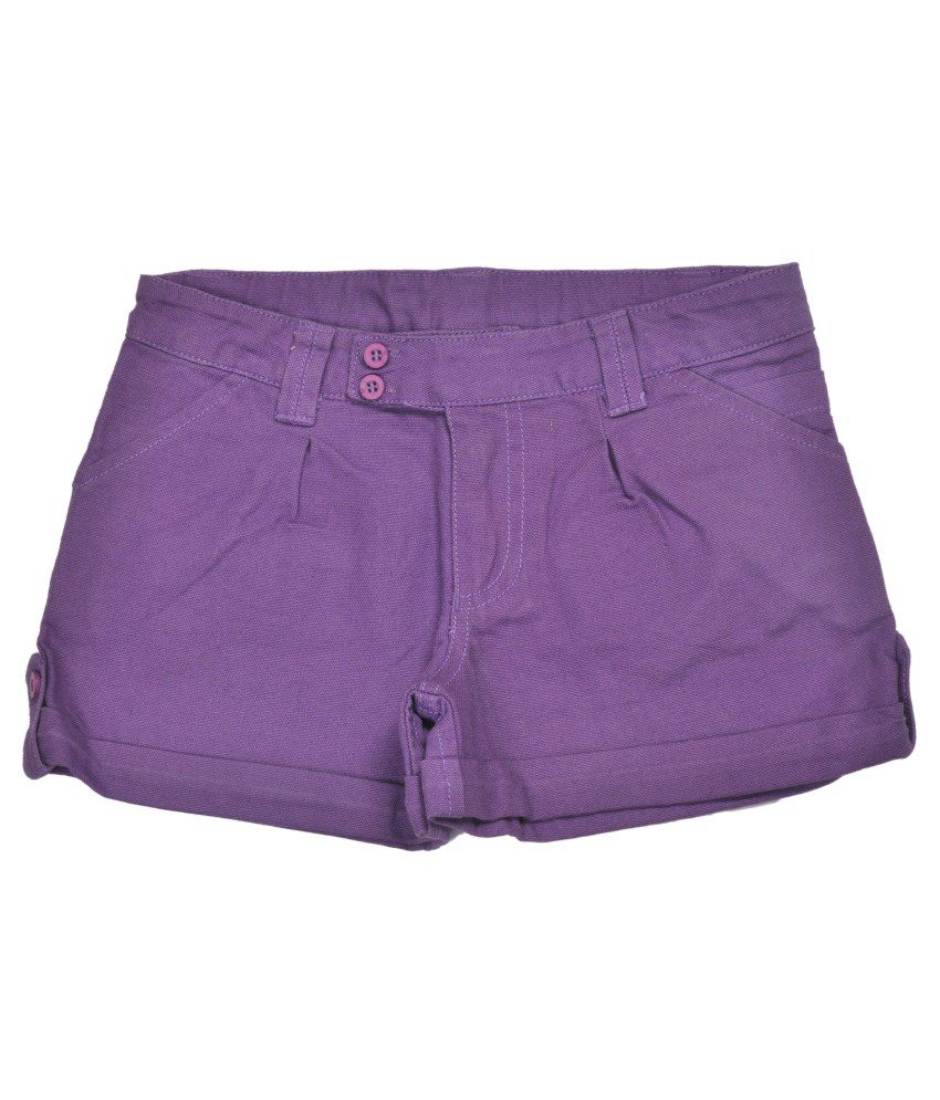 Bio Kid Cotton Purple Shorts