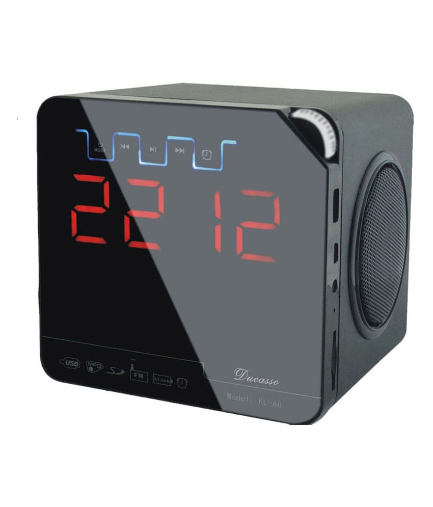 ducasso black boy bluetooth speaker with usb sd card alarm fm radio clock and remote black. Black Bedroom Furniture Sets. Home Design Ideas