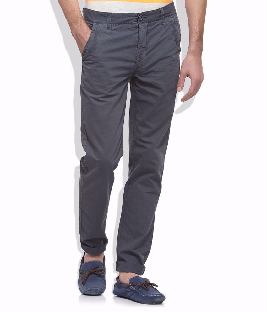 United Colors Of Benetton Gray Casual Trouser