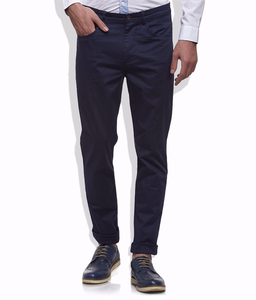 United Colors Of Benetton Navy Casual Trouser