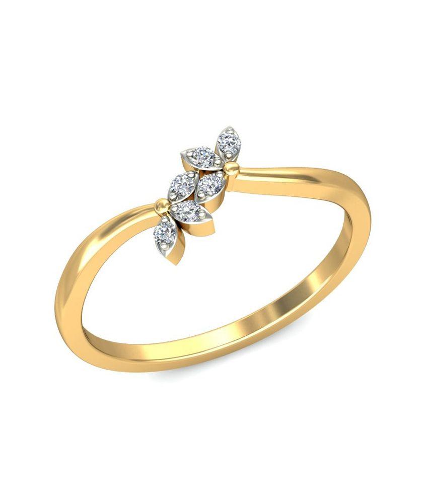 Jewelsnext 18kt Gold Contemporary Neviah Diamond Ring