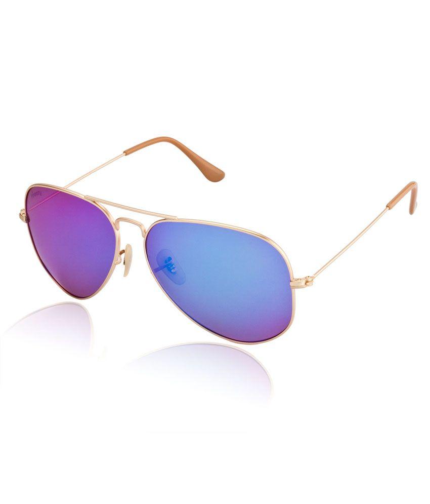 Velocity Golden Metal CR Lens Aviator Sunglasses