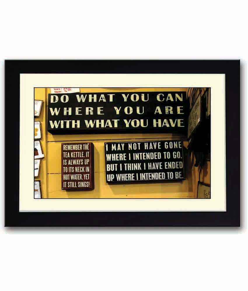 Inspirational Quotes On Wood: Artifa Inspirational Quotes Wooden Framed Poster: Buy