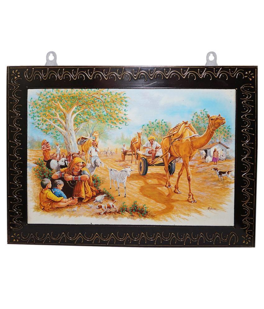 R S Jewels Wooden Handicraft Folk Art Painting