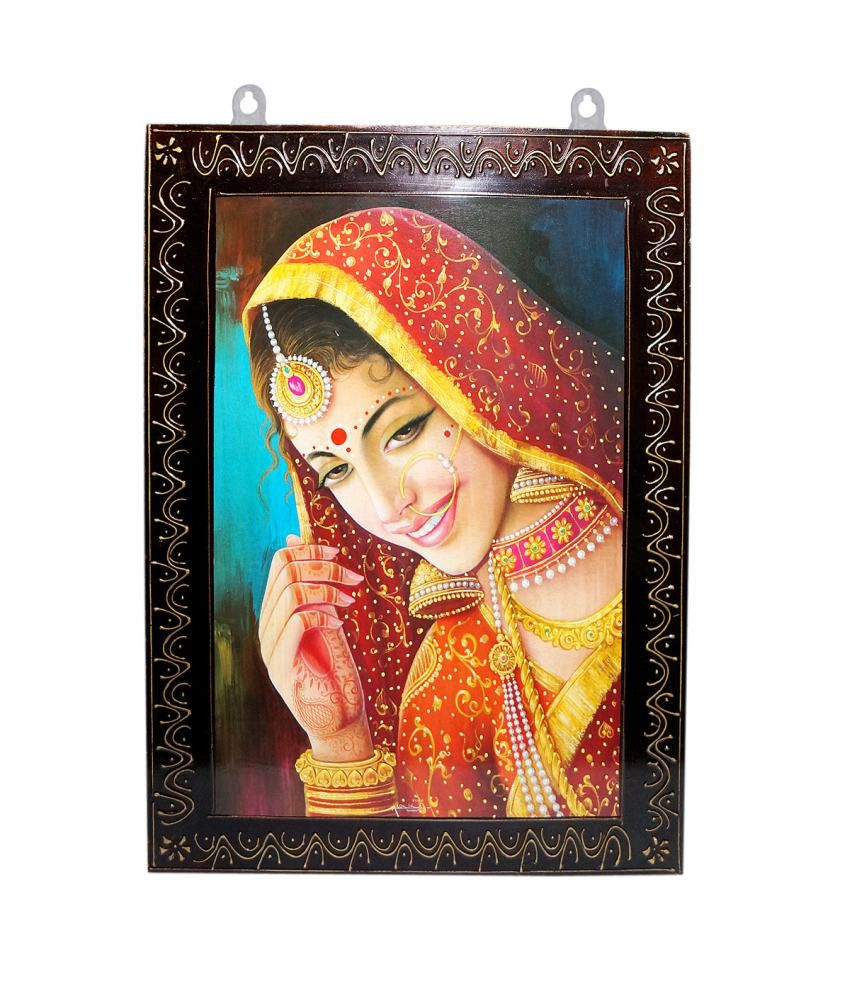 R S Jewels Wooden Handicraft Folk Art Painting