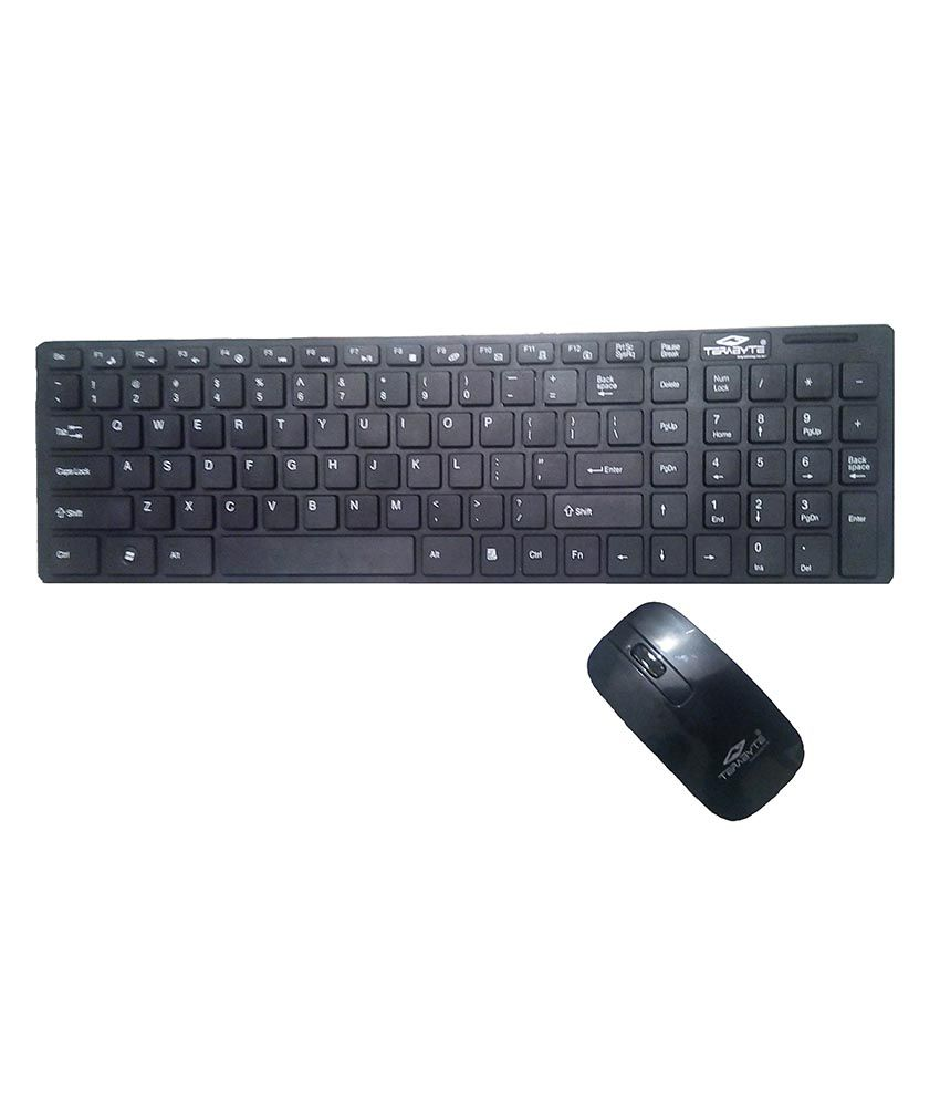 Terabyte Wireless Keyboard Mouse Combo Black