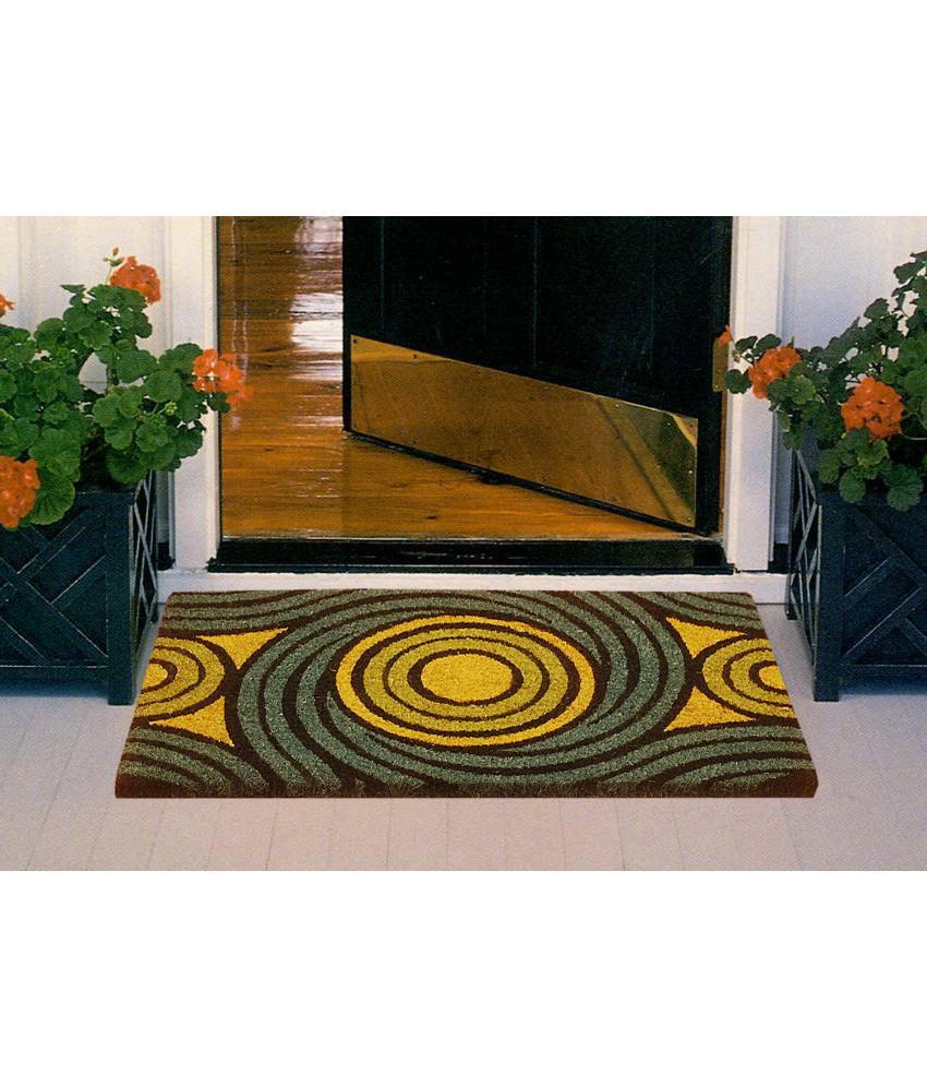 Bianca Green Cotton Floor Mats