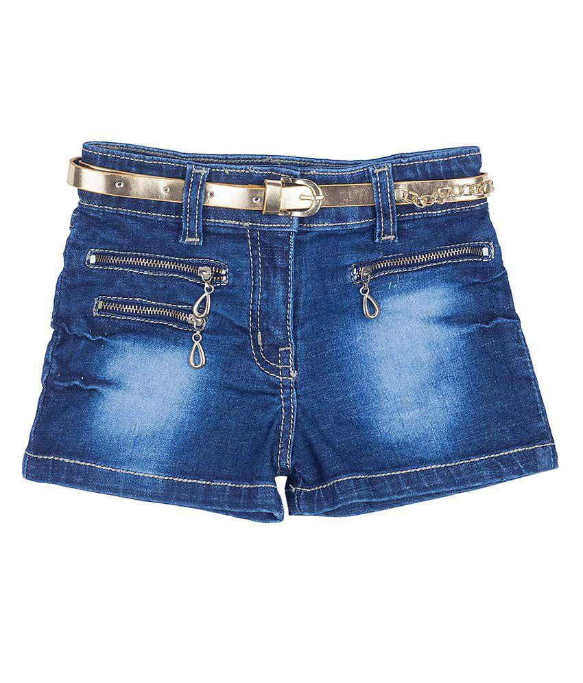 Hunny Bunny Denim Zippered Shorts