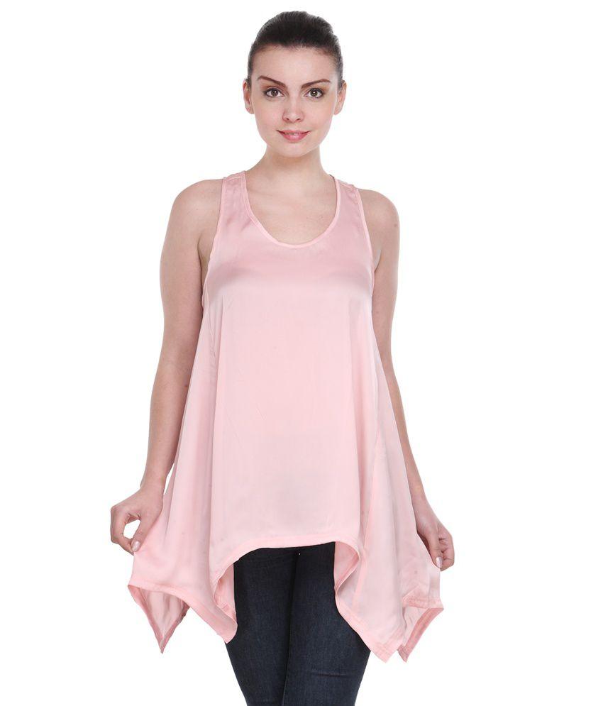 Karyn Pink Satin Tunics